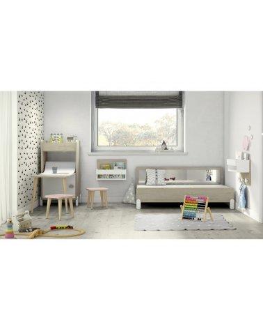 Cama Montessori con Espejo sin Patas Colección Arco Iris de Ros