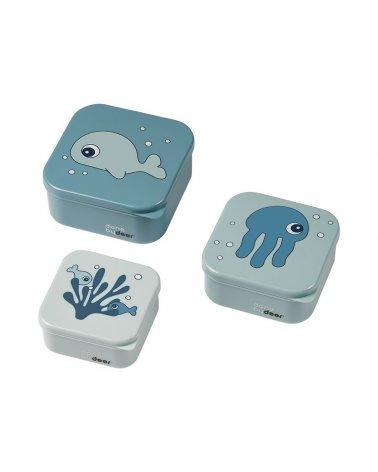 Set Caja de Snack Sea Friends Azul