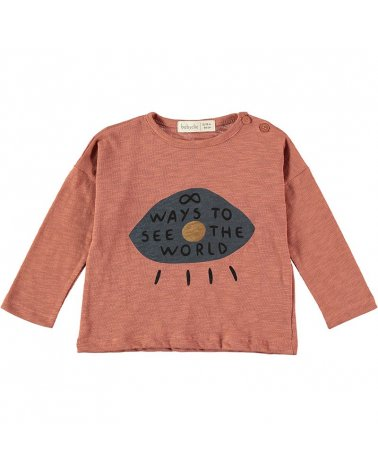 Camiseta M/L Eye Terracotta Baby Clic