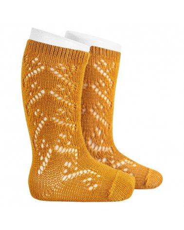 Calcetines Altos Crochet Con Lanita Condor Curry